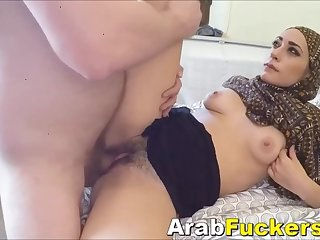 Poor Middle Eastern Whore Desperate For Cash Sucks Big White Cock