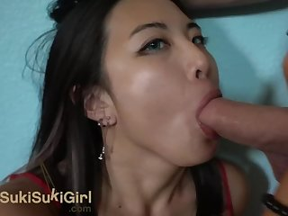 Fuck her in her red Romper!! white businessman dominates chinese girl WMAF