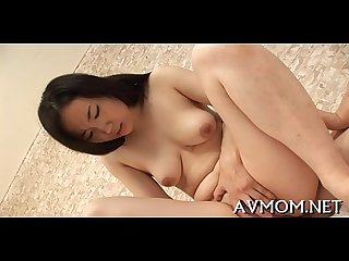 Lustful mom finger fucking action